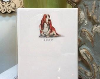 Basset Hound Dog Note Card Set