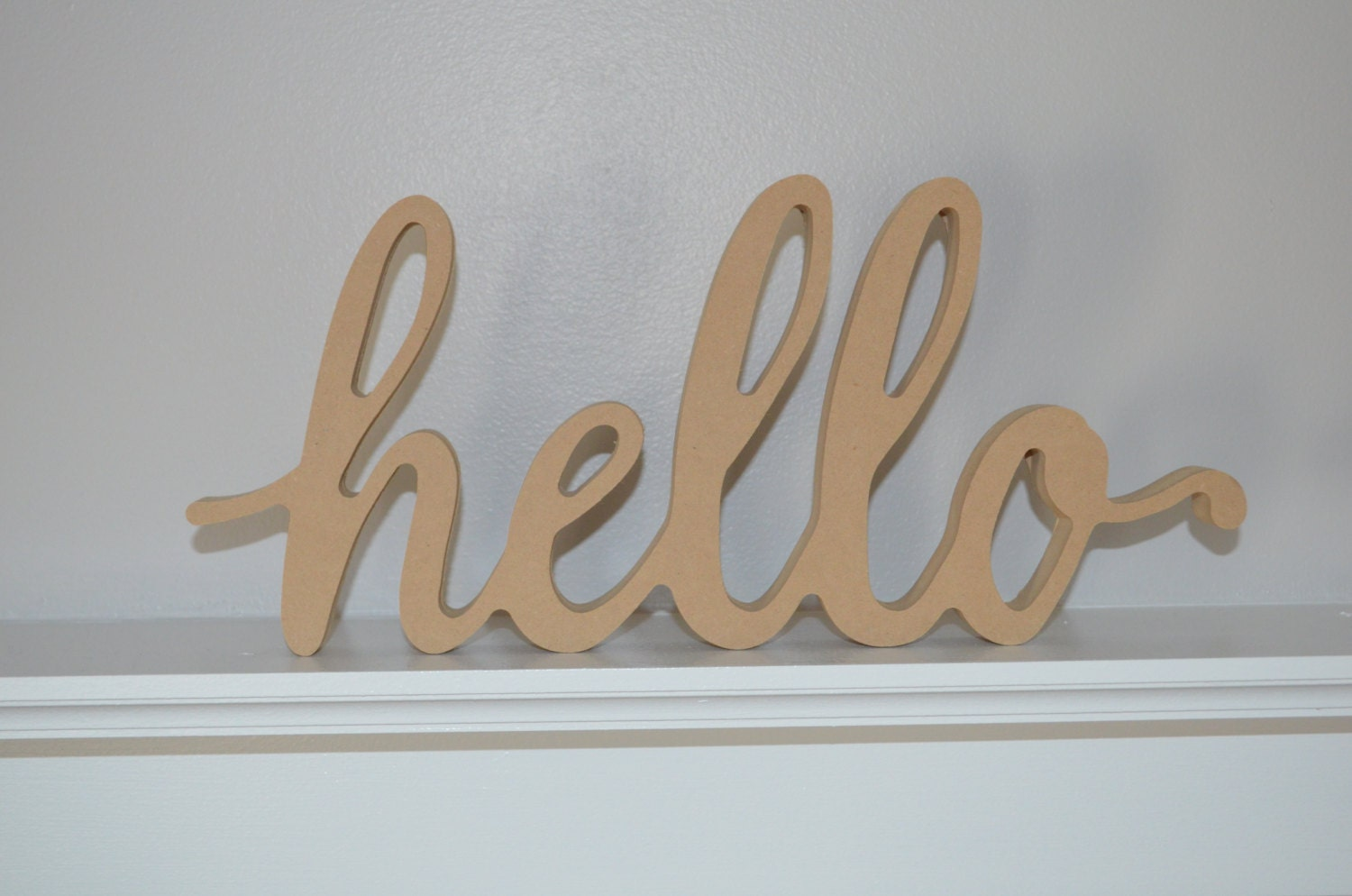 unfinished hello cursive lettershandmade wooden letters signhello sign decoration