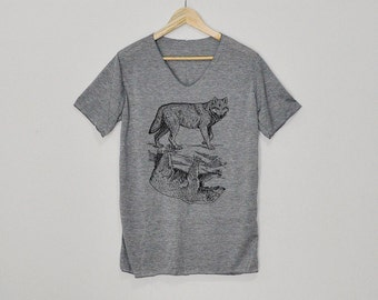 Wolf and Bear Shirt Tshirt T-shirt Top Size S M L