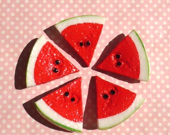Kawaii watermelon hair clip