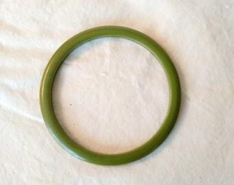 Avocado Green Bakelite Bangle