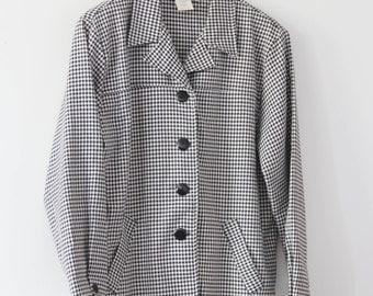 70's Mod HoundsTooth Coat