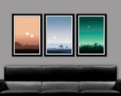 Force Inspired - Star Wars Inspired - Sunset Minimalist Poster Set - Episodes 4,5, & 6 Sunset Collection - Print 237 - Home Decor