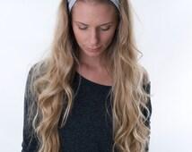 Grey Headband, Hair Accessories, Yoga Headband, Comfy Hair Band,  Workout Accessories, Preppy Style, BFF, Boho Turban, Fitness Hairband