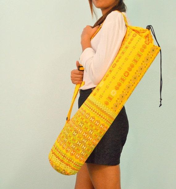 Handmade Yoga Mat Bag With Shoulder Strap