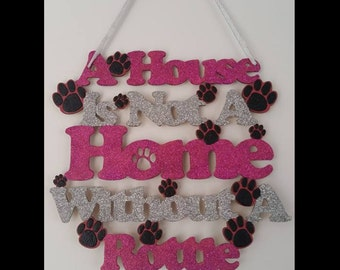 Rottweiler Hanging Wall Plaque