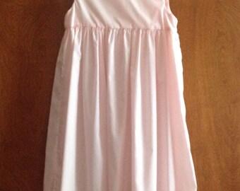 Pink Flower Girl Dress, Sleeveless Special Occasion Dress by Ance K,  Long Girls' Dress Size 4