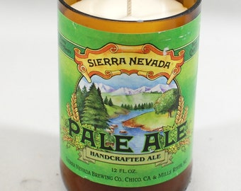 Hancrafted Soy Candle - Created from a Sierra Nevada Pale Ale Bottle