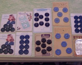 Vintage button lot 10 carded buttons on cards Lansing Pearls Styletone Ultra Kraft Desirables Prevue Exclusive mother of pearl