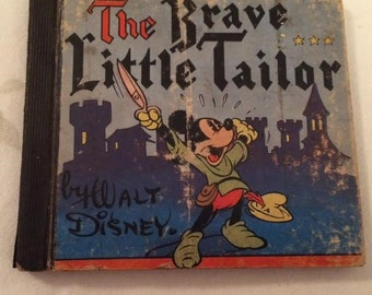 1939 Walt Disney The Brave Little Tailor Whitman Publishing Company Mickey Mouse Book