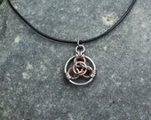 Lucky Coin Necklace:  Lucky Coin Pendant Stainless Steel and Copper Lucky Coin