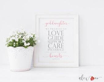 Goddaughter Printable. Goddaughter Baptism Printable. God Daughter Gift. Baptism Printable. Baptism Gift Girl. Goddaughter Gifts.