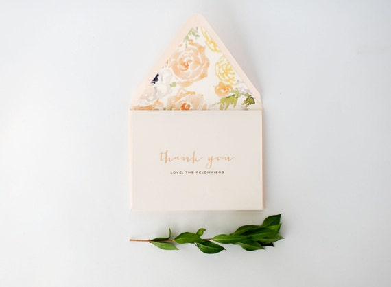 laura personalized thank you cards +  lined envelopes (sets of 10) // lola louie paperie