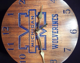 Custom Michigan Wolverine Clock