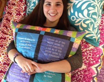 Book lover's Pillow with quotes