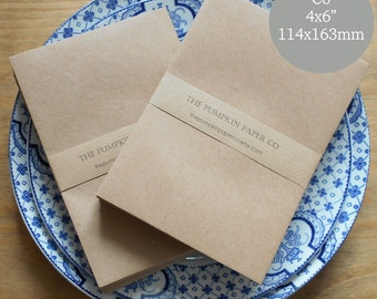 50 4 1/2x7 Brown Kraft Open-end Envelopes for A6
