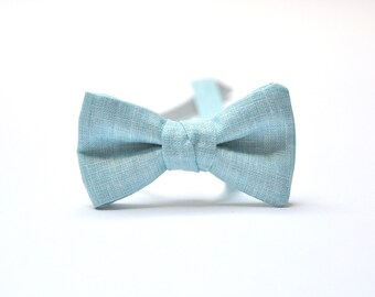 Ice Blue Boy Bow Tie. Ring Bearer Bow Tie. Ring Bearer Accessory. Light Blue boy Bow Tie. Toddler Bow Tie