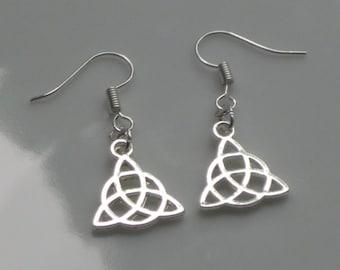 Celtic Knot earrings, silver earrings, Pagan, Wicca, boho, silver jewelry