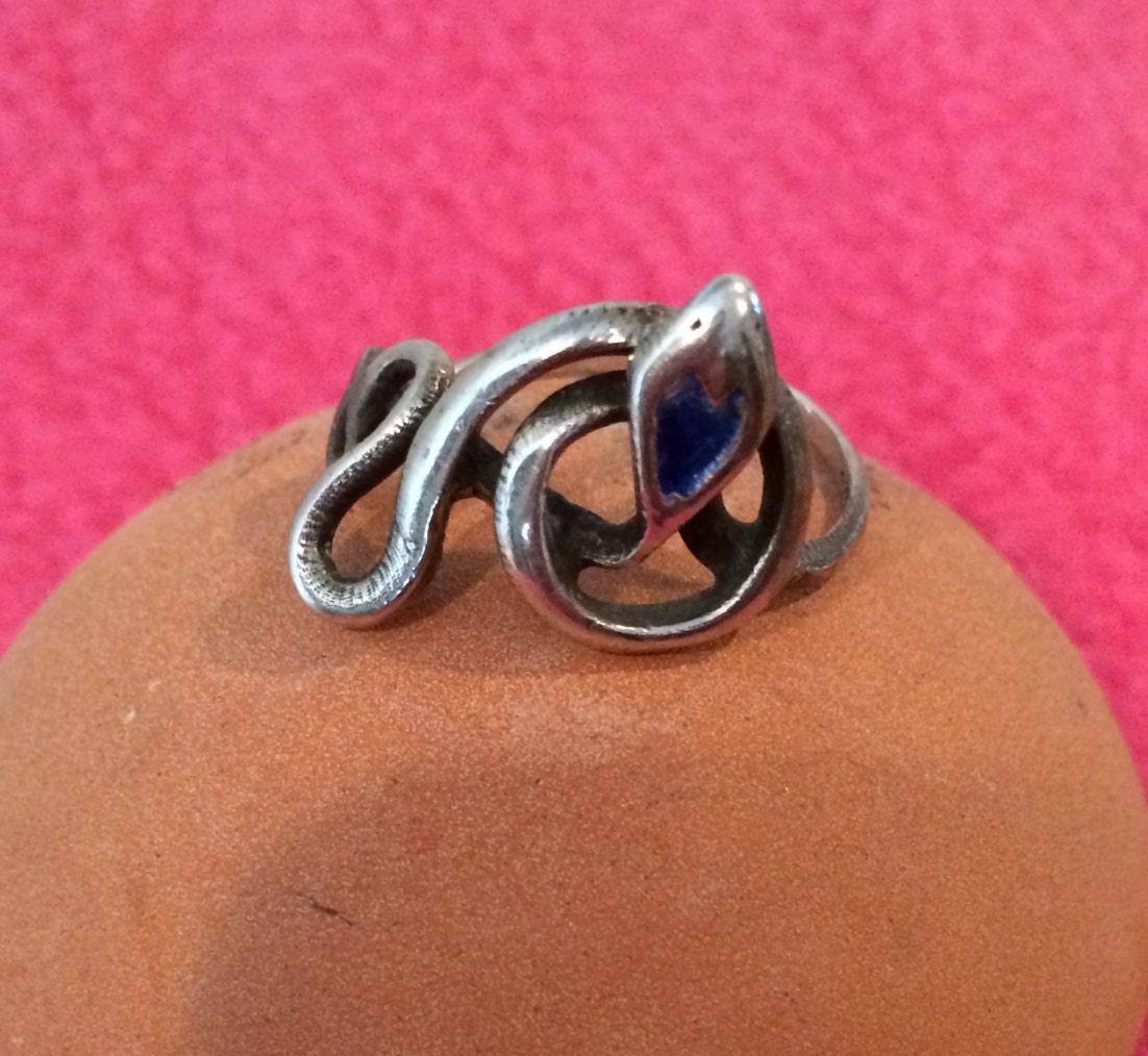 vintage sterling silver snake ring