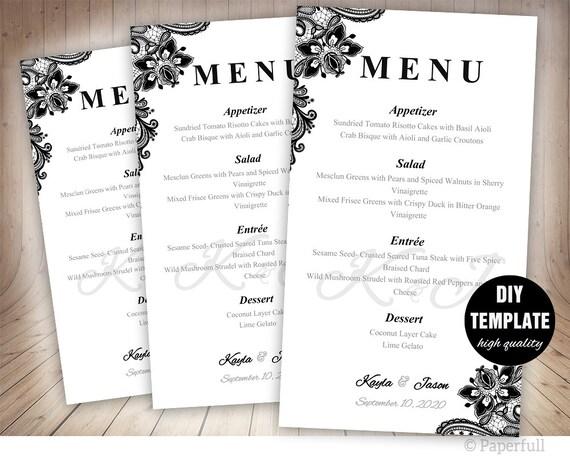 Charmant Beispiele Für Catering Menüvorlagen Fotos - Entry Level ...