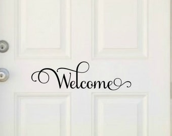 Welcome Door Decal Welcome Decal Front Door Welcome Decal Front Door Decal Door Vinyl Decal Welcome Door Vinyl Welcome Decal Vinyl Door
