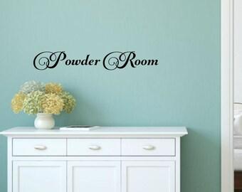 Powder Room Decal Bathroom Wall Decal Powder Room Vinyl Bathroom Decal Bathroom Vinyl Decal Wall Words Bathroom Wall Decor Bathroom Decor