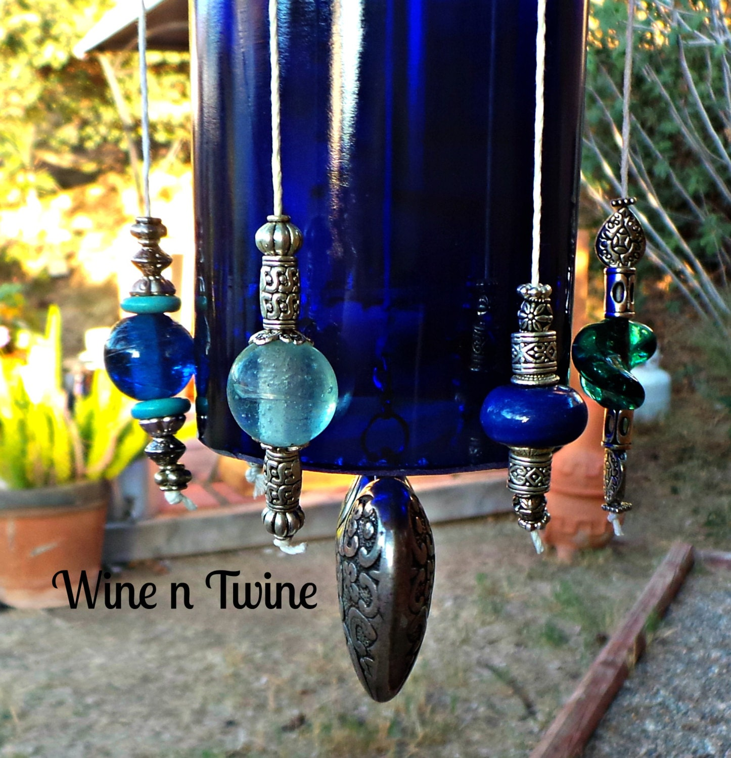What To Make With Wine Bottles: Recycled Wine Bottle Wind Chime