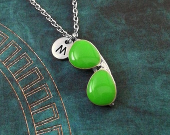 Sunglasses Necklace Glasses Necklace Summer Necklace Summer Jewelry Green Sunglasses Charm Necklace Sunglasses Pendant Necklace Monogram