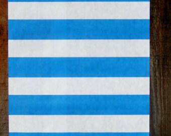 Royal Blue Sailor Striped Paper bags  ( 12 bags/pack)