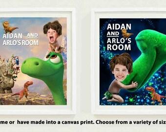 Dinosaur personlized print,Arlo & Spot PARODY, The Good Dinosaur, Dinosaur kids wall art,  boys room decor, dinosaur theme,