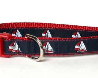 Sailboats Dog Collar