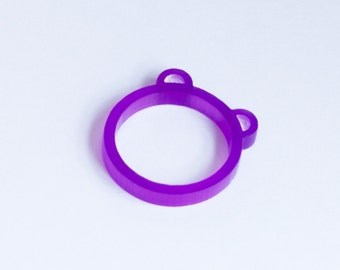 Bear Ring - Laser Cut 3mm Acrylic Ring