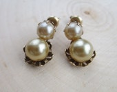 Early Vintage Faux Pearl Drop Earrings