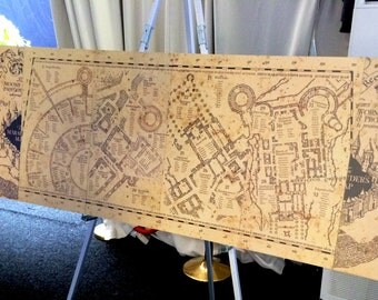 Harry Potter Marauders Map Seating Plan Board 70cm x 150cm