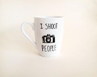 Mug - White ceramic coffee mug/photographer/photography/For him/For her - { I shoot people }