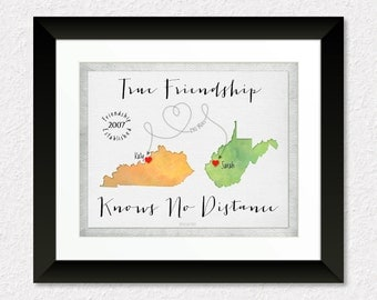 Wedding Gift For Distant Friend : Long Distance Gift for Friend, Custom Best Friend Gift, Friend Going ...