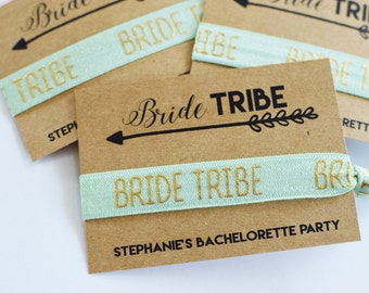 Bachelorette Party Favors//Bride Tribe Hair Ties//Bride Tribe Bachelorette//Elastic Hair Tie//Creaseless Hair Tie