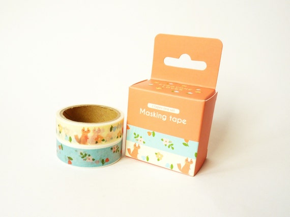 washi tape set orange forest from washitapecollection on etsy studio. Black Bedroom Furniture Sets. Home Design Ideas