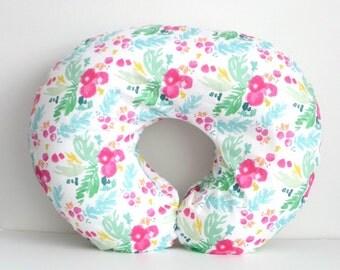 Boppy Nursing Pillow Cover Fairy Tale Floral Coral Peach