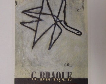 Georges Braques Hand Signed Print - Limited Edition Lithograph Print 1958