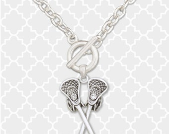 Lacrosse Sticks Toggle Necklace