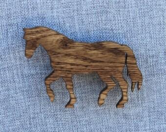 Handmade Wooden Walking Horse Magnet