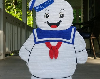 Birthday Party Decor | Stay Puft Party Decor | Stay Puft Pinata | Ghostbusters Party Prop | Marshmallow Monster Party Decor