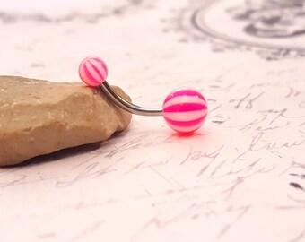 Acrylic Navel Ring (14G)