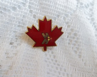 Maple Leaf Pin maple leaf with HH , maple leaf lapel pin