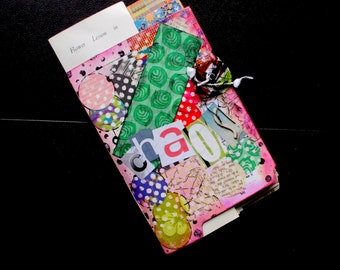 Junk Journal, Mixed Paper Notebook, Smash Book, Collage Diary, Recycled Paper Journal, Scrap Paper, Mixed Media Art Paper Upcycled Ephemera