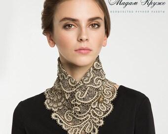 Bobbin Lace collar-scarf 2 Russian lace bobbin lace handmade lace detachable collar russian lace