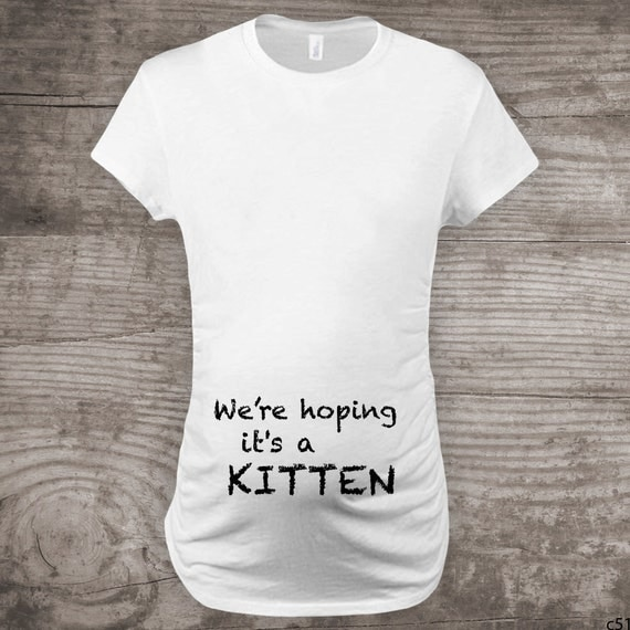 Maternity Shirt For Cat Lovers Funny Novelty Message Tees