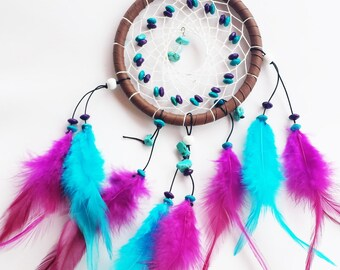 Turquoise and Fuchsia Dream Catcher