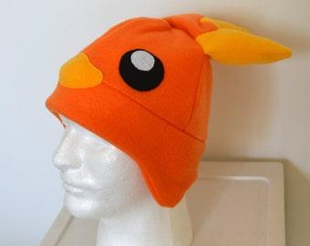 Torchic Pokemon Fleece Hat with Earflaps